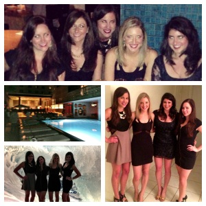 Dinner at Nobu in Miami, and Hyde Beach at SLS with Stephanie, Amanda, Colleen and Nicole.