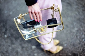 Chanel Clear Clutch
