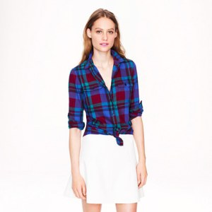 J Crew Flame Plaid Shirt