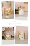 Glitter Votives, via 100layercake