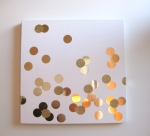 DIY Confetti Wall Art via MintLovesSocialClub