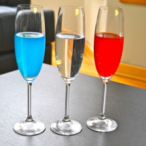 "Red, White and Blue ""Champagne"" Cocktails"