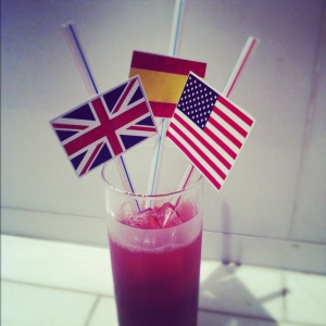 Printed flags straws!