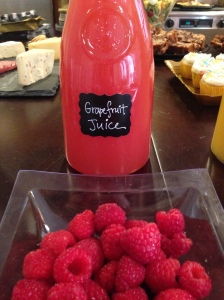 Grapefruit Juice with Raspberries