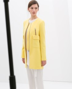 Zara Yellow Coat with Pockets